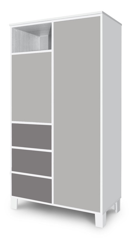Faktum Holly 2 ajtós 3 fiókos állószekrény  Grey - Nagyszekrények ... e7f3848330