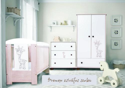 Drewex Zsiráf kiságy #tölgy-fehér