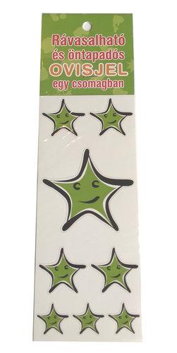 Óvodai jelkészlet 16 darabos #Csillag zöld
