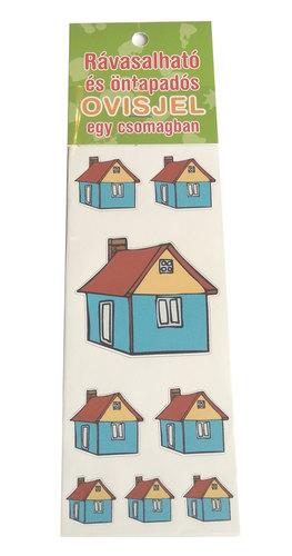 Óvodai jelkészlet 16 darabos #Ház kék