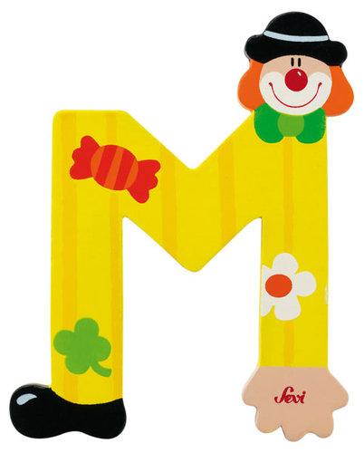 Sevi Fa betűk #bohócos M sárga