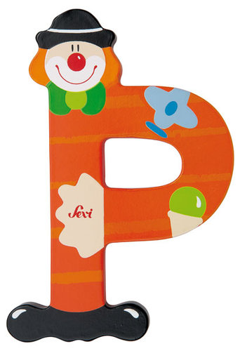 Sevi Fa betűk #bohócos P narancs