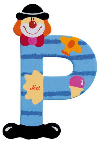 Sevi Fa betűk #bohócos P világoskék