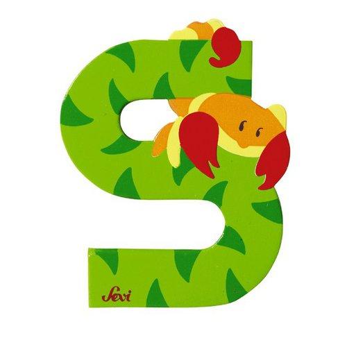 Sevi Fa betűk #állatos S zöld