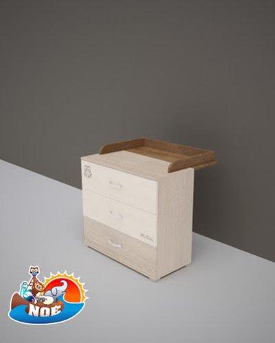 Todi Noé pelenkázó toldalék 3 fiókos kisszekrényhez