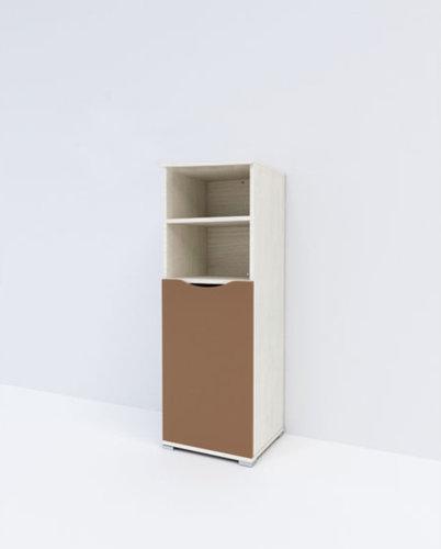 Zen 1 ajtós keskeny szekrény rejtett fékes