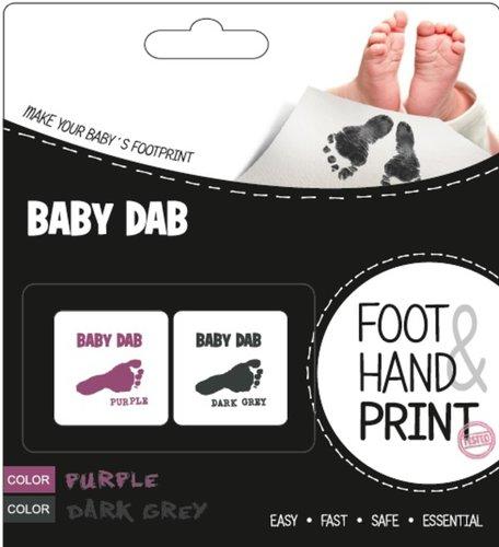 BabyDab Lenyomat készítő lila-szürke #90095