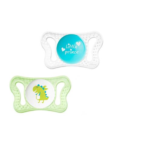 Chicco Physio Micro szilikon játszócumi #0-2hó #Zöld-átlátszó #CH07212121-069538