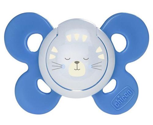 Chicco Physio Comfort szilikon játszócumi #16-36m #kék-cica #CH07491541-059089
