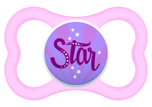Mam Air szilikon cumi 16+ hónap #rózsaszín Star #703867 2021