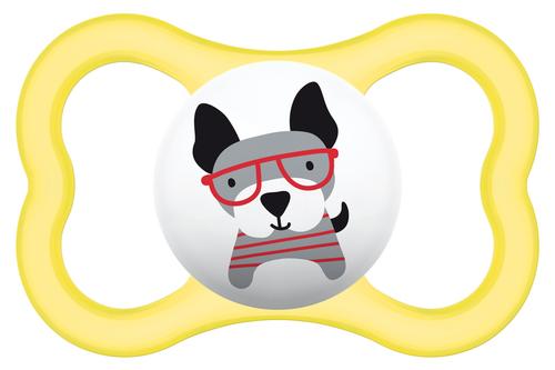 Mam Air szilikon cumi 6+ hónap #sárga-kutya #805608