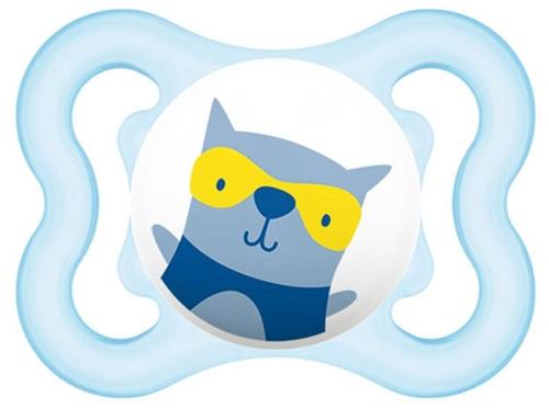 Mam Mini Air játszócumi #szilikon #0-6 hó #kék kutya #670152
