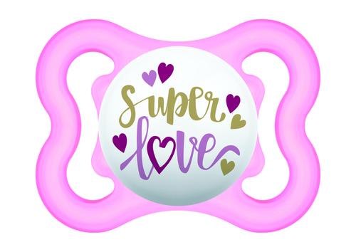 Mam Mini Air szilikon játszócumi #0-6 hó #rózsaszín Super Love #670152 2021