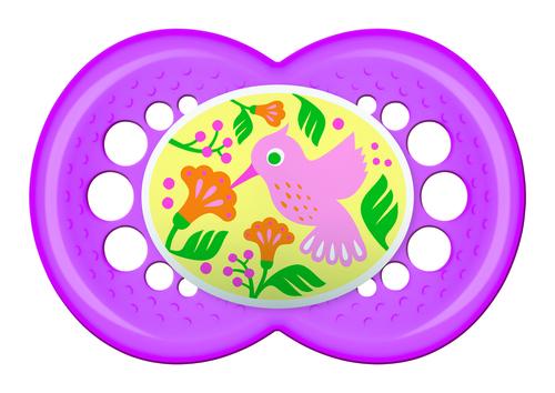Mam Original játszócumi #latex #6 hó+ #pink madár #331817 2020