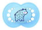 MAM Original matt játszócumi 16 hó 2db kék medve - krém sünis #810855 2021