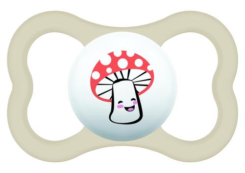 Mam Supreme játszócumi 16 hó szürke maci - fehér gomba #810916 2021