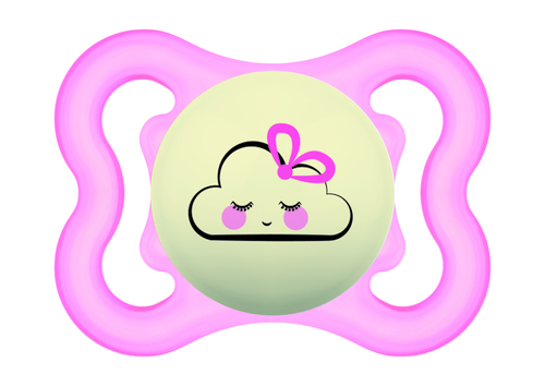 Mam Supreme Night játszócumi 0 hó rózsaszín felhő - fehér csillagos #810930 2021
