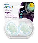 Philips Avent játszócumi ultra air éjszakai #2db-os #0-6hó #fiú #SCF376/11
