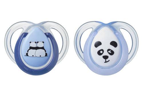 Tommee Tippee Anytime játszócumi #0-6hó #2db #kék panda #43335403-333544 2021