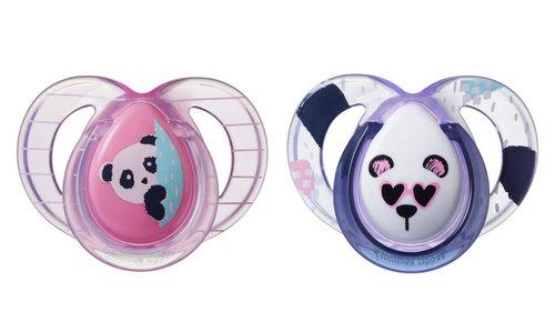 Tommee Tippee Anytime játszócumi #6-18hó #2db #pink-lila panda #43336403-333643 2021