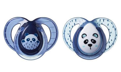 Tommee Tippee Anytime játszócumi #6-18hó #2db #skék-vkék panda #43336403-333643 2021