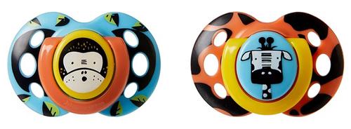 Tommee Tippee Fun játszócumi 18-36 hó 2db dzsungel narancs-kék #43340555-334053