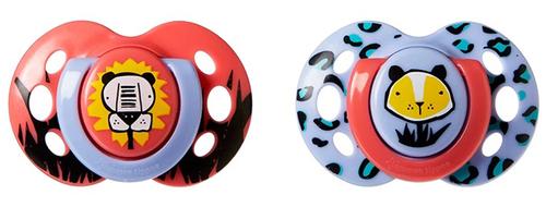 Tommee Tippee Fun játszócumi #6-18hó #2db #dzsungel pink-lila #43335865-333582