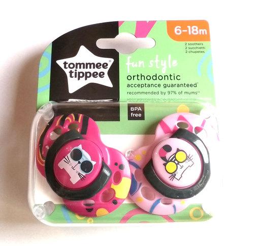 Tommee Tippee Fun játszócumi #6-18hó #2db #tarka pink-rózsaszín #43335865-333582 2021