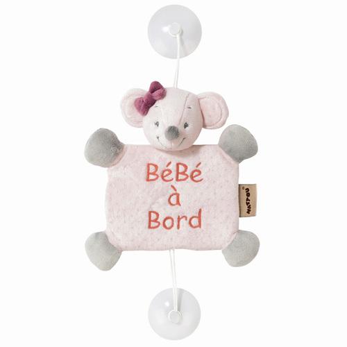 Nattou Baby on Board Plüss #Adele and Valentine - Valentine az egér
