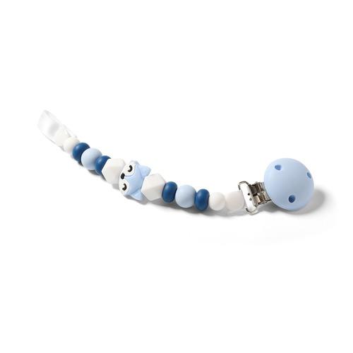 Babyono cumitartó szilikon gyöngysor kék róka #719-03
