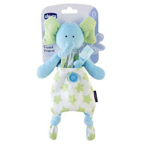 Chicco Szundikendő és cumitartó Pocket Friend 2in1 Elefánt #CH0080132