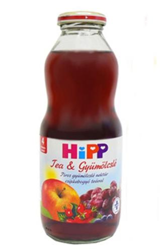 Hipp Bébitea piros gyümölcslé csipkebogyó teával 500ml #8410