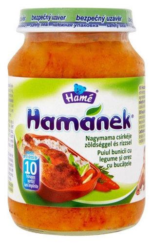 Hamé Bébiétel nagyi csirkéje zöldséggel rizzsel #190g