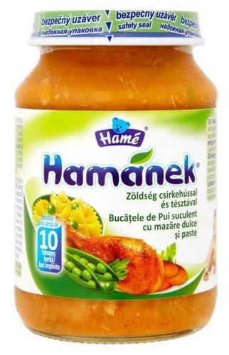 HAMÉ Bébiétel zöldség csirkehússal tésztával #190g
