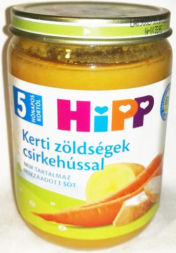 Hipp Bébiétel Kerti zöldségek csirkehússal #190g #5h #6264