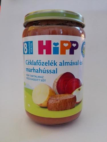 Hipp Bébiétel Céklafőzelék almával és marhahússal #220g #8h #6440