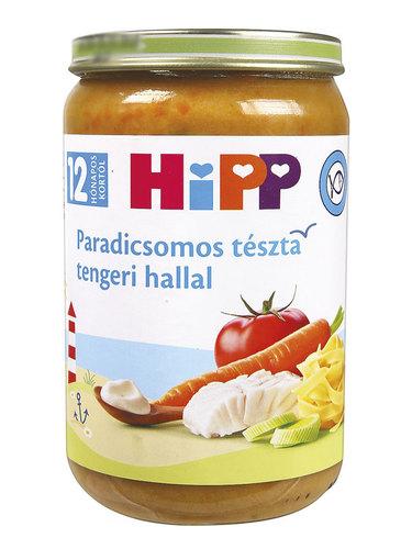 Hipp Bébiétel Paradicsomos tészta tengeri hallal #220g #12h #6823-01