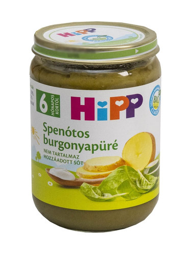 Hipp bébiétel Spenót burgonyapürével #190g #6h #4062