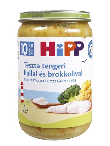 Hipp Bébiétel Tészta tengeri hallal és brokkolival #220g #10h #6550-01