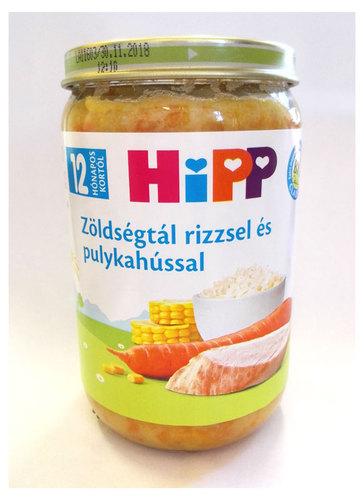 Hipp Bébiétel Zöldségtál rizzsel és pulykahússal #220g #12h #6813