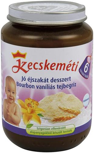 Kecskeméti Bébiétel Jó éjszakát desszert bourbon vaníliás tejbegríz #1082