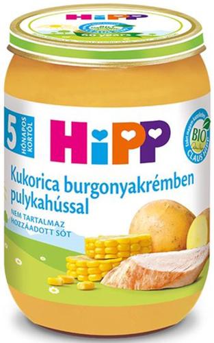 Hipp bébiétel kukorica burgonyakrémben pulykahússal #190g #5h
