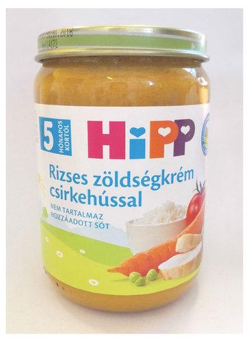 Hipp bébiétel rizses zöldségkrém csirkehússal #190g #5h