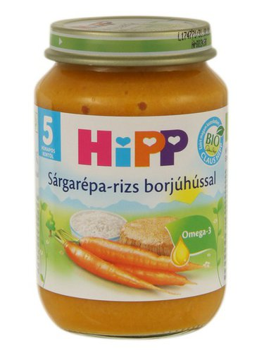 Hipp bébiétel sárgarépa-rizs borjúhússal #190g #5h