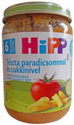 Hipp bébiétel tészta paradicsommal cukkinivel #190g #6h