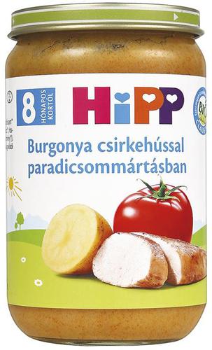 Hipp bébiétel burgonya csirkehússal paradicsommártásban #220g #8h