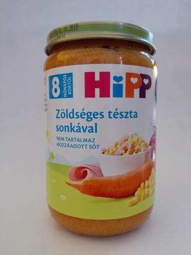 Hipp bébiétel zöldséges tészta sonkával #220g #8h