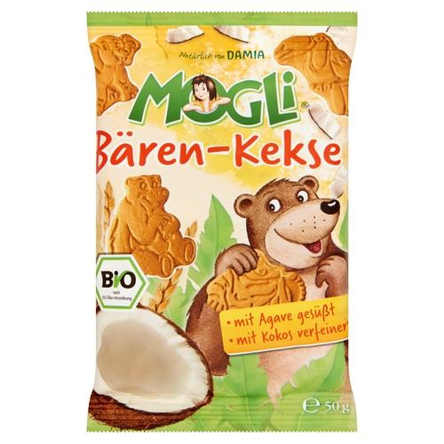 Mogli Bio Mini Baren keksz kókuszos 50g