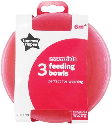 Tommee Tippee Essential Basics tálkák 3db #43031410 #rózsaszín