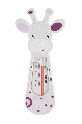 Babyono vízhőmérő zsiráf fehér szürke bordó-lila pöttyös #776-02